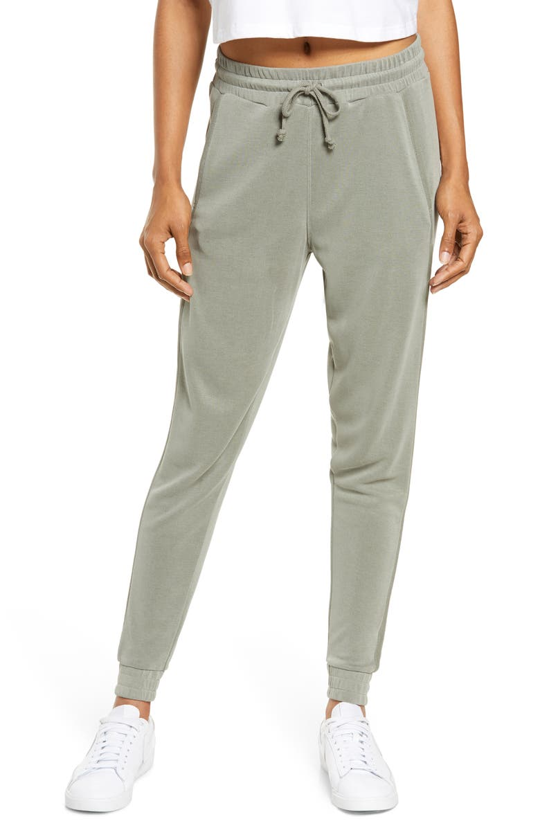 FREE PEOPLE FP MOVEMENT Back Into It Joggers, Main, color, ARMY