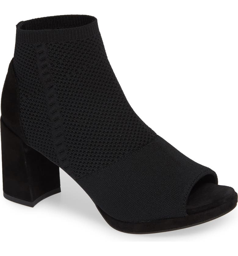 EILEEN FISHER Margate Peep Toe Bootie, Main, color, 001