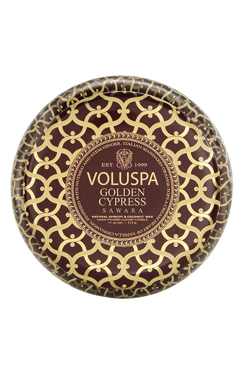 VOLUSPA 'Maison Rouge - Golden Cypress Sawara' 2-Wick Scented Candle, Main, color, 000