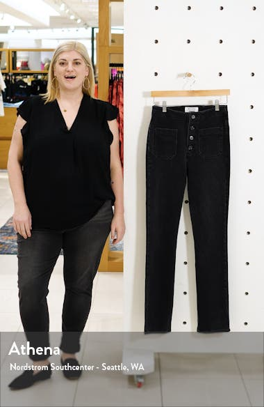 Elsie High Waist Straight Leg Jeans, sales video thumbnail