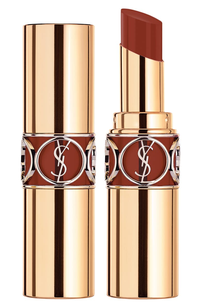 YVES SAINT LAURENT Rouge Volupté Shine Oil-in-Stick Lipstick Balm, Main, color, BURNT ZELLIGE