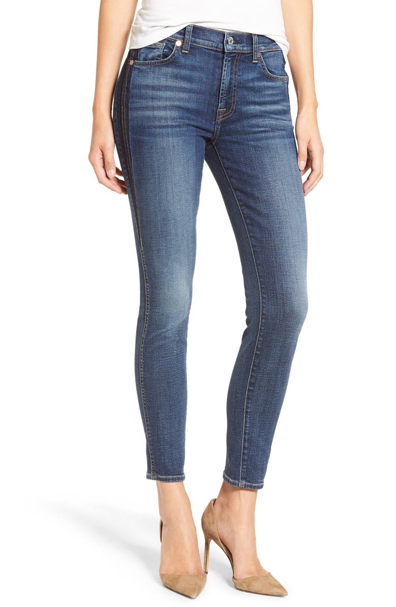 7 FOR ALL MANKIND<SUP>®</SUP> Ankle Skinny Jeans, Main, color, 400