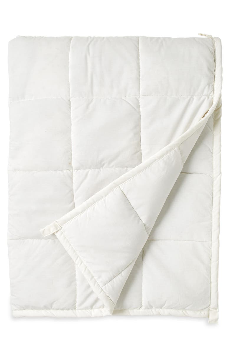 WELLBE Embrace Organic Cotton Weighted Blanket, Main, color, NATURAL