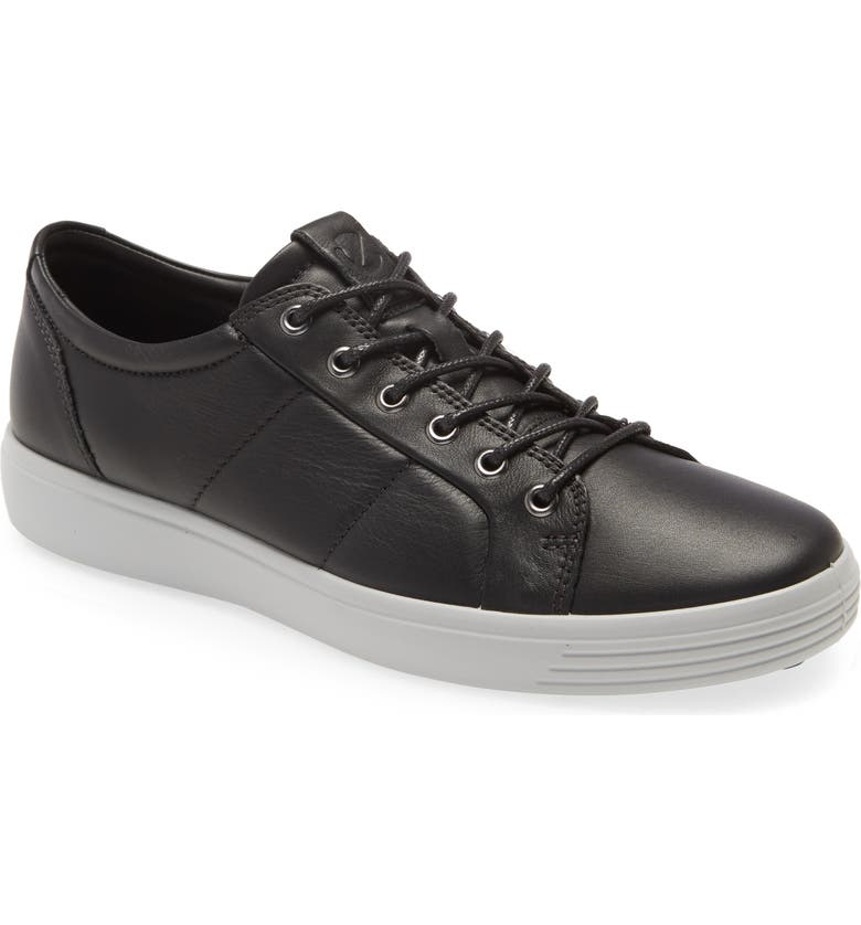 ECCO Soft 7 Premium Sneaker, Main, color, BLACK/ CONCRETE