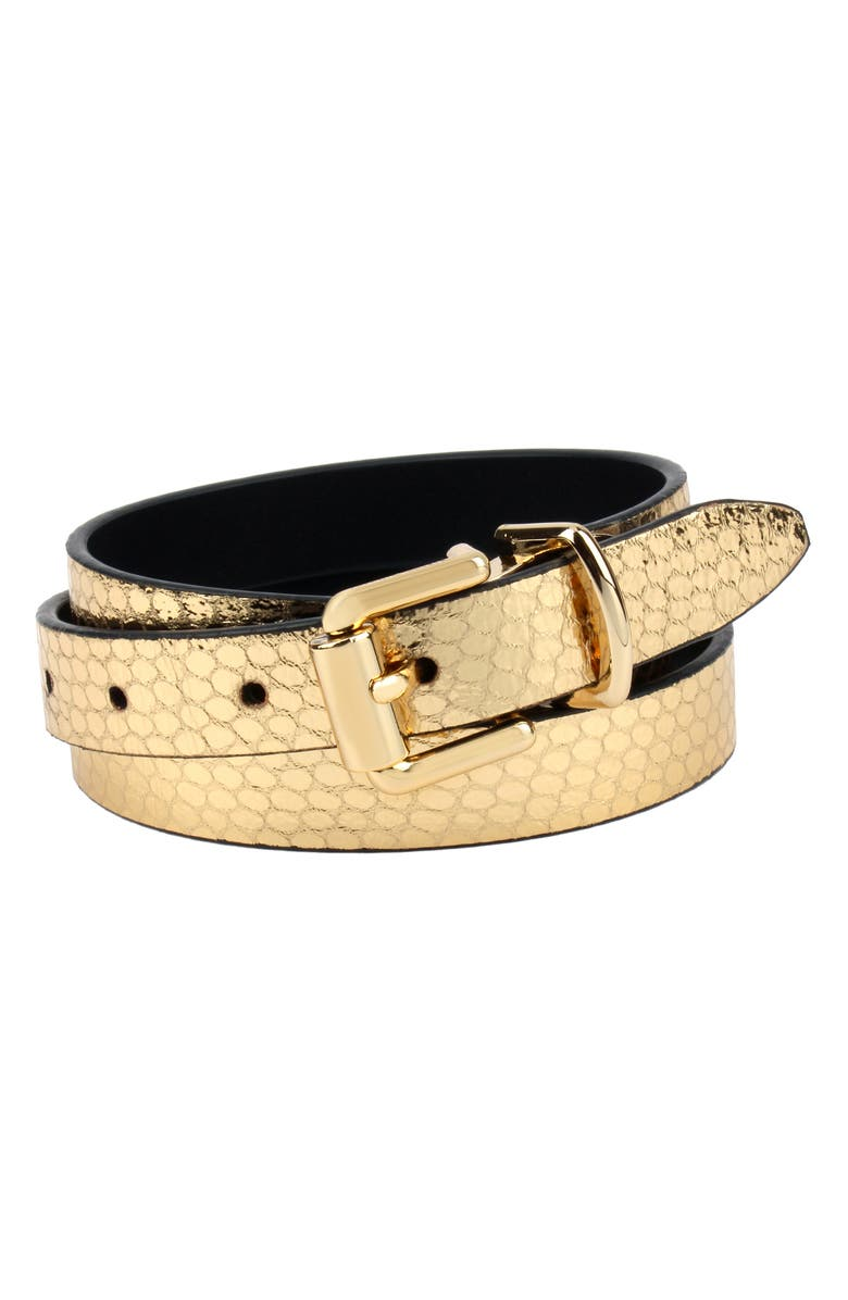 REBECCA MINKOFF Reversible Leather Belt, Main, color, 710