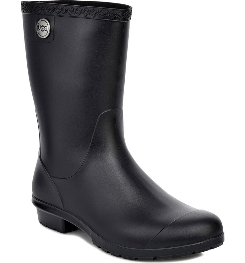 UGG<SUP>®</SUP> Sienna Rain Boot, Main, color, BLACK RUBBER