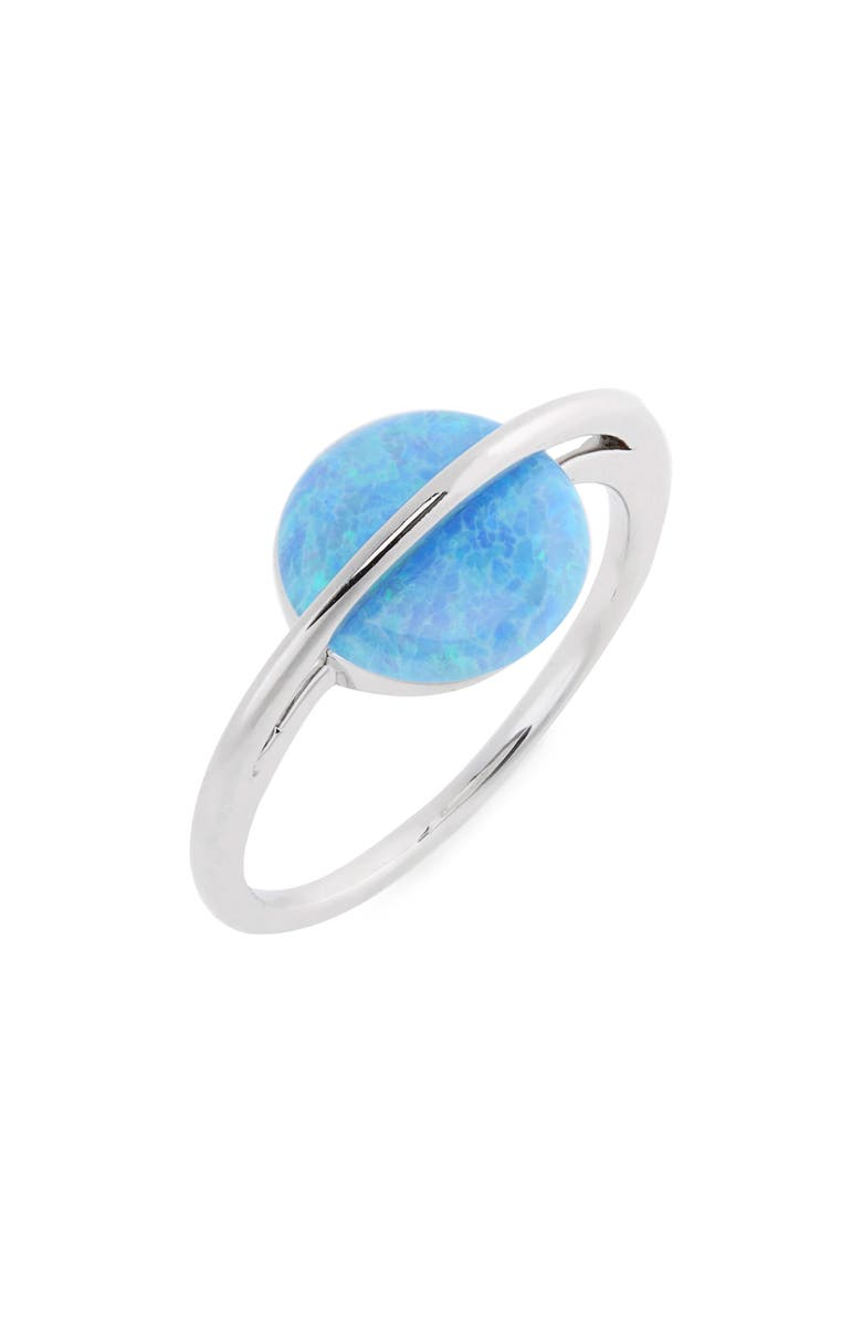 PURA VIDA Opal Saturn Ring, Main, color, SILVER