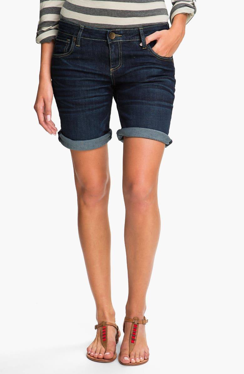 KUT FROM THE KLOTH Boyfriend Denim Shorts, Main, color, 400