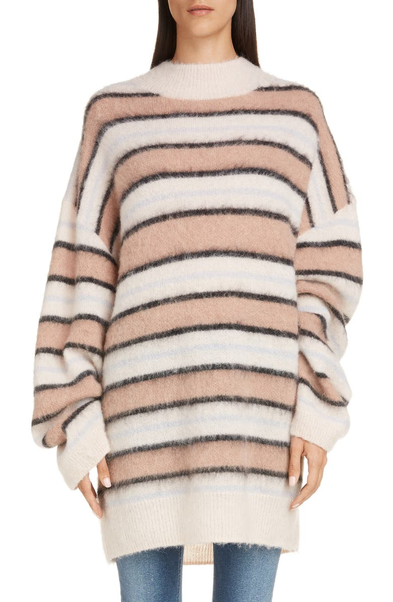 ACNE STUDIOS Karalynn Stripe Oversize Sweater, Main, color, 650