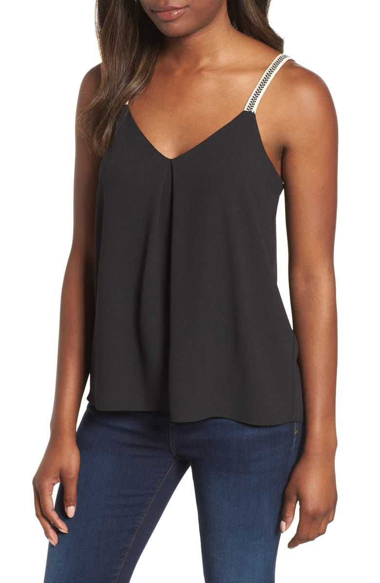 1.STATE Embroidered Strap Camisole, Main, color, RICH BLACK