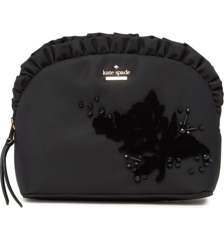 KATE SPADE NEW YORK small marcy embellished clutch, Main, color, BLACK