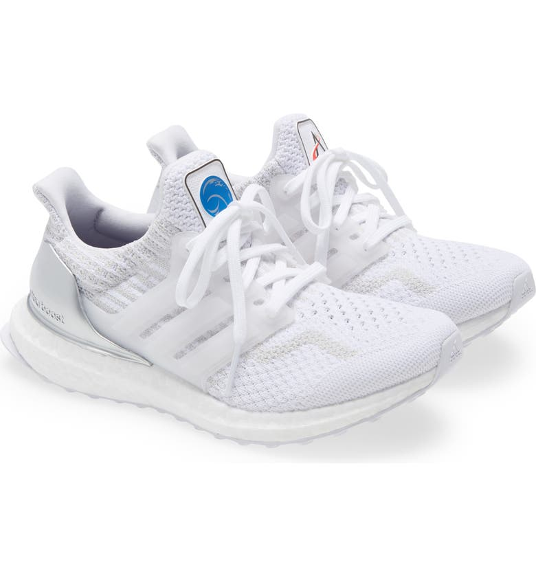 ADIDAS UltraBoost DNA Primeblue Running Shoe, Main, color, FOOTWEAR WHITE/ GREY ONE
