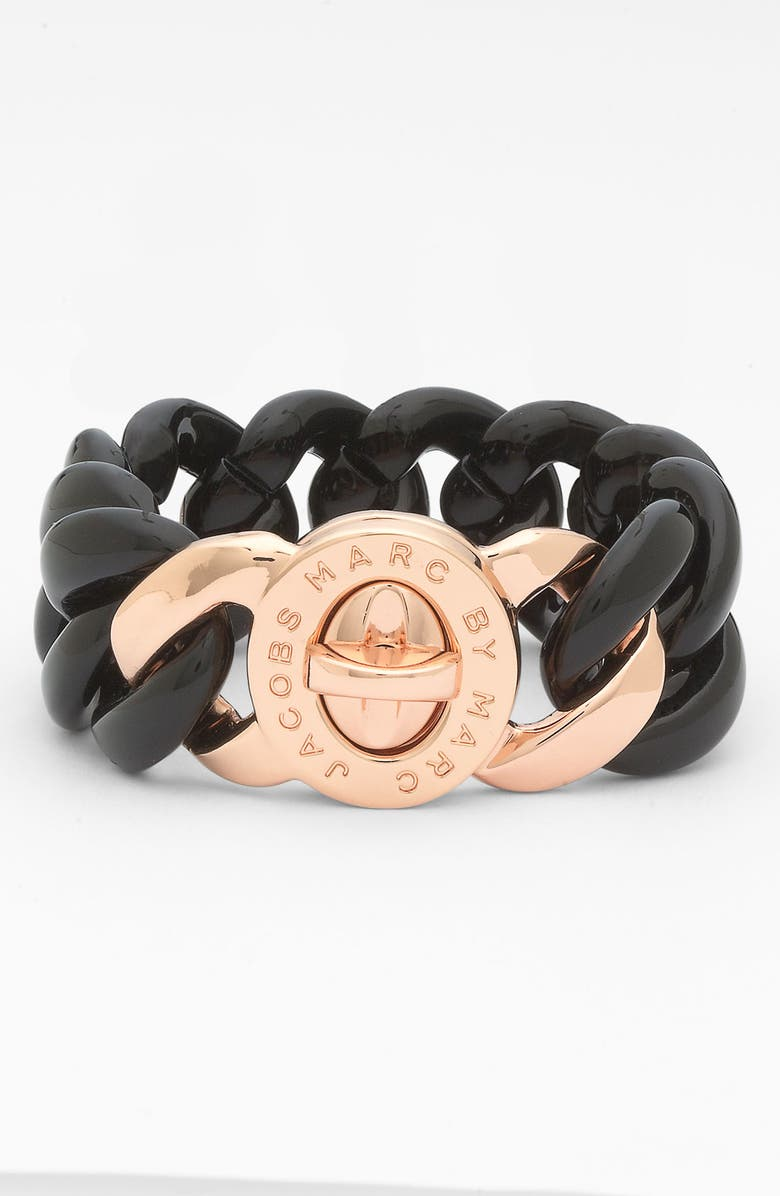MARC BY MARC JACOBS 'Turnlock - Candy' Small Bracelet, Main, color, 001