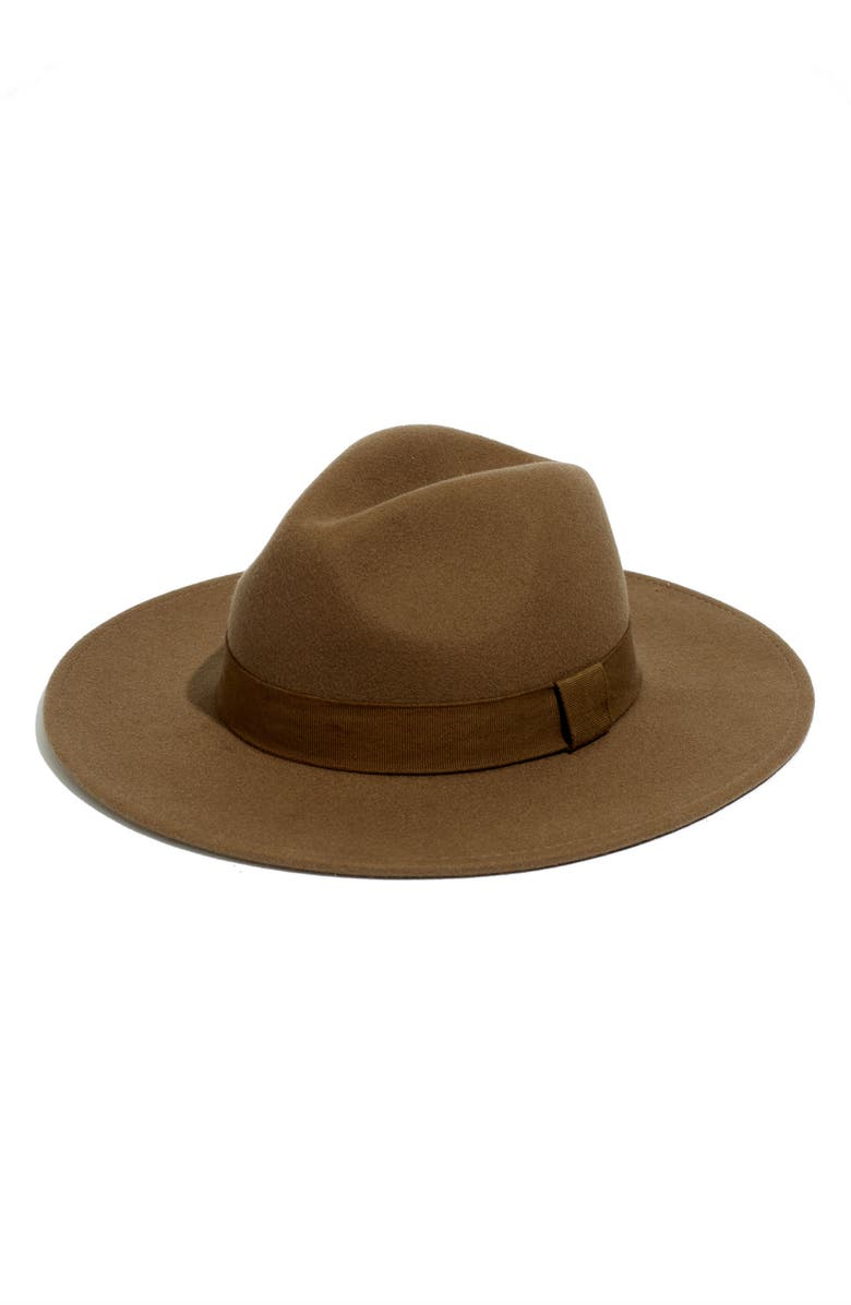 MADEWELL x Biltmore<sup>®</sup> Shaped Wool Felt Hat, Main, color, ASHEN BIRCH