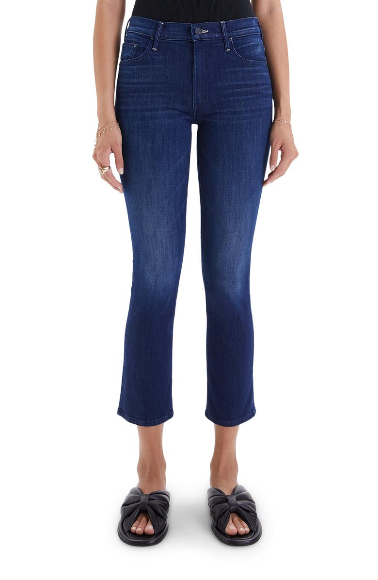 MOTHER The Insider Ankle Bootcut Jeans, Main, color, CROSS YOUR FINGERS