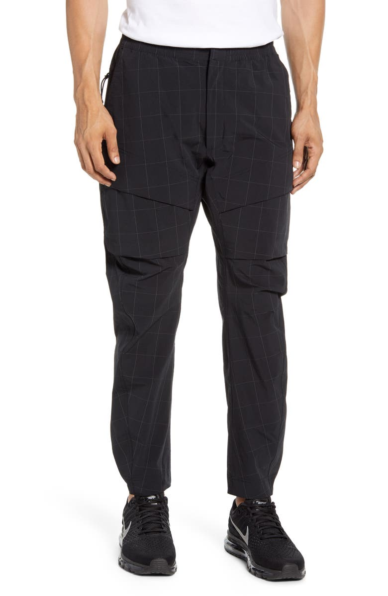 NIKE Tech Pack Windowpane Check Cargo Pants, Main, color, 010