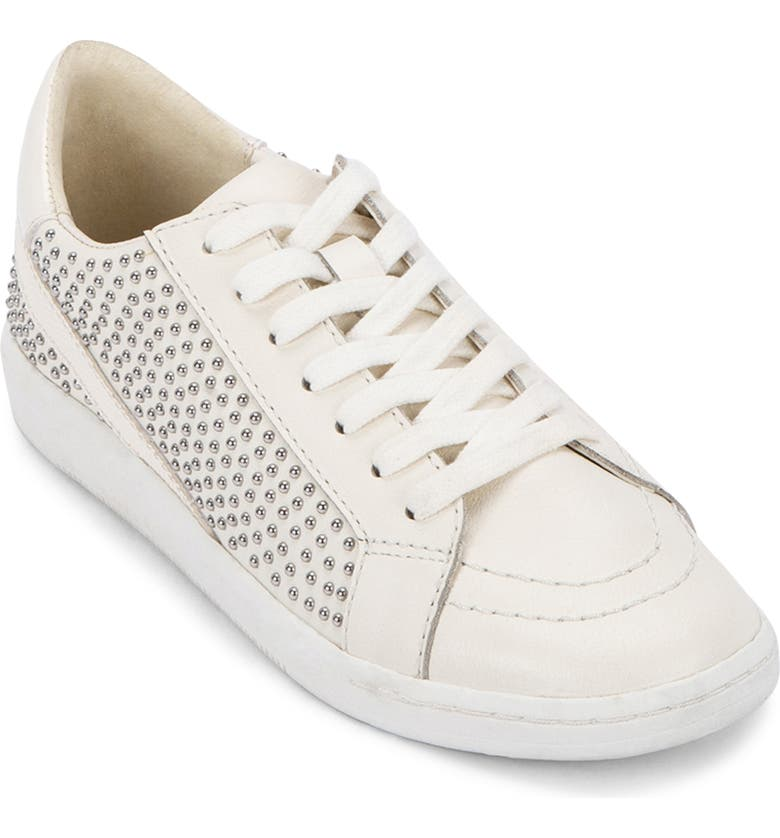 DOLCE VITA Nino Studded Sneaker, Main, color, WHITE STUDDED LEATHER