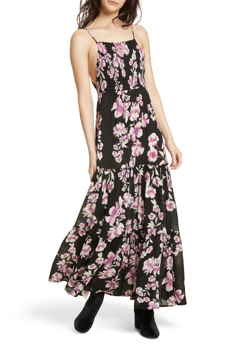 FREE PEOPLE Garden Party Maxi Dress, Main, color, ONYX