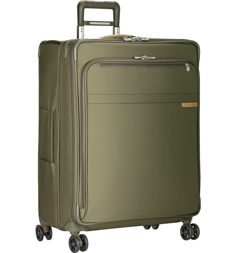 BRIGGS & RILEY Baseline 28-Inch Large Expandable Spinner Packing Case, Main, color, OLIVE