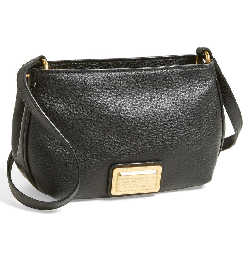 MARC JACOBS MARC BY MARC JACOBS 'Percy' Crossbody Bag, Main, color, Black