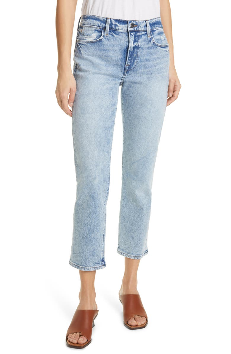 FRAME Le High Ankle Straight Leg Jeans, Main, color, LOMBARD