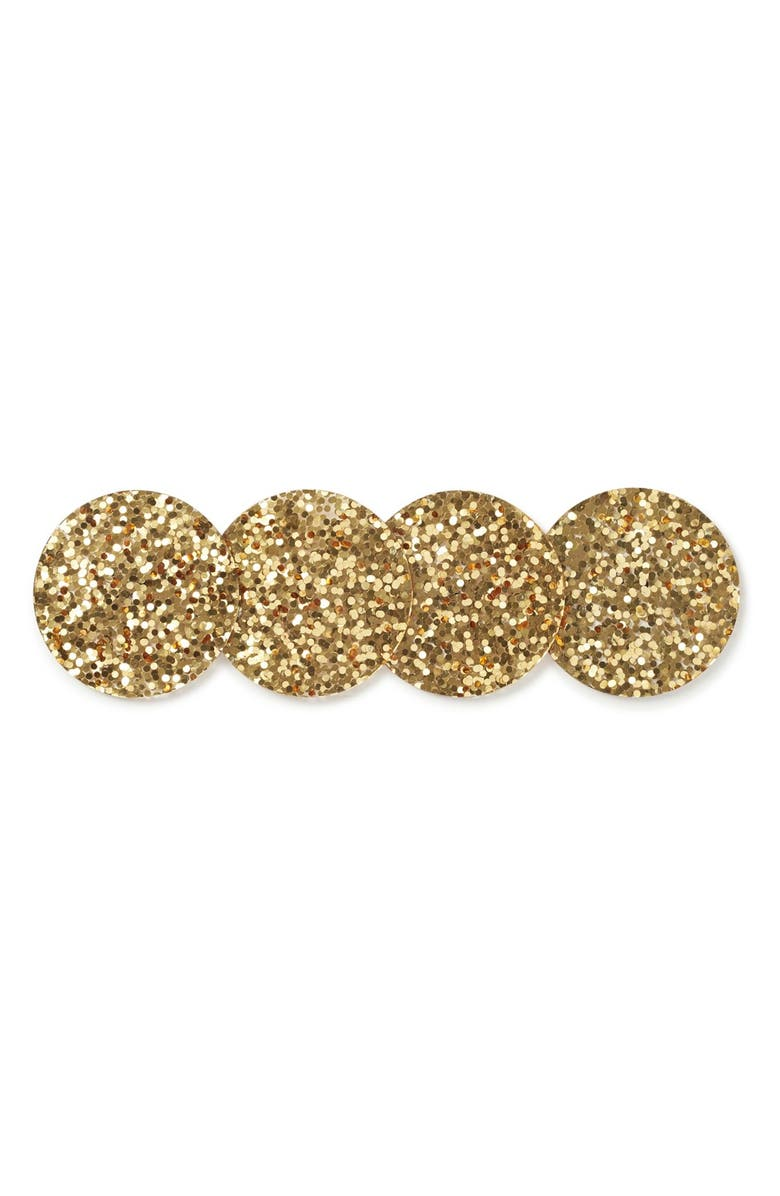 KATE SPADE NEW YORK 'happy hour glitter' coasters, Main, color, Gold