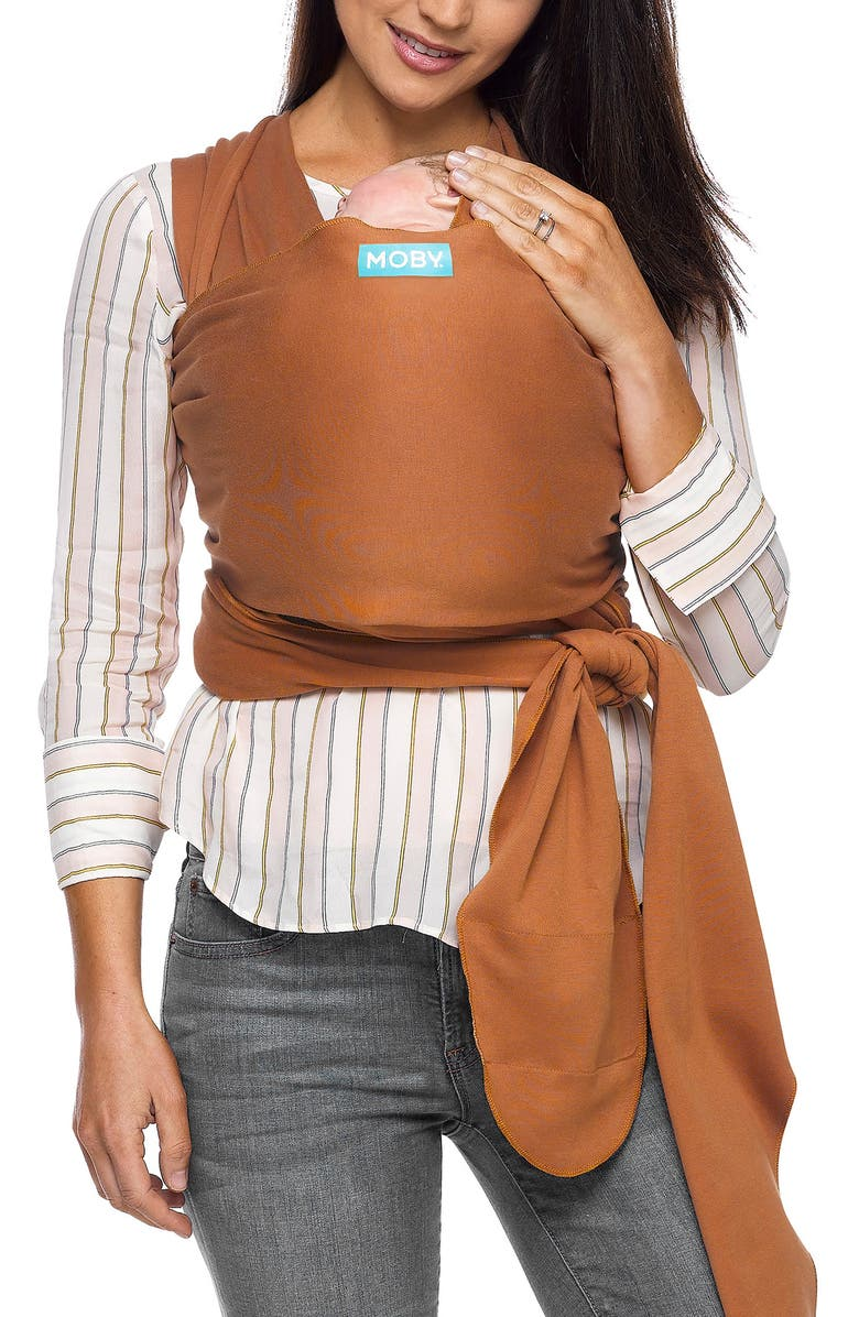 MOBY Evolution Baby Carrier, Main, color, CARAMEL