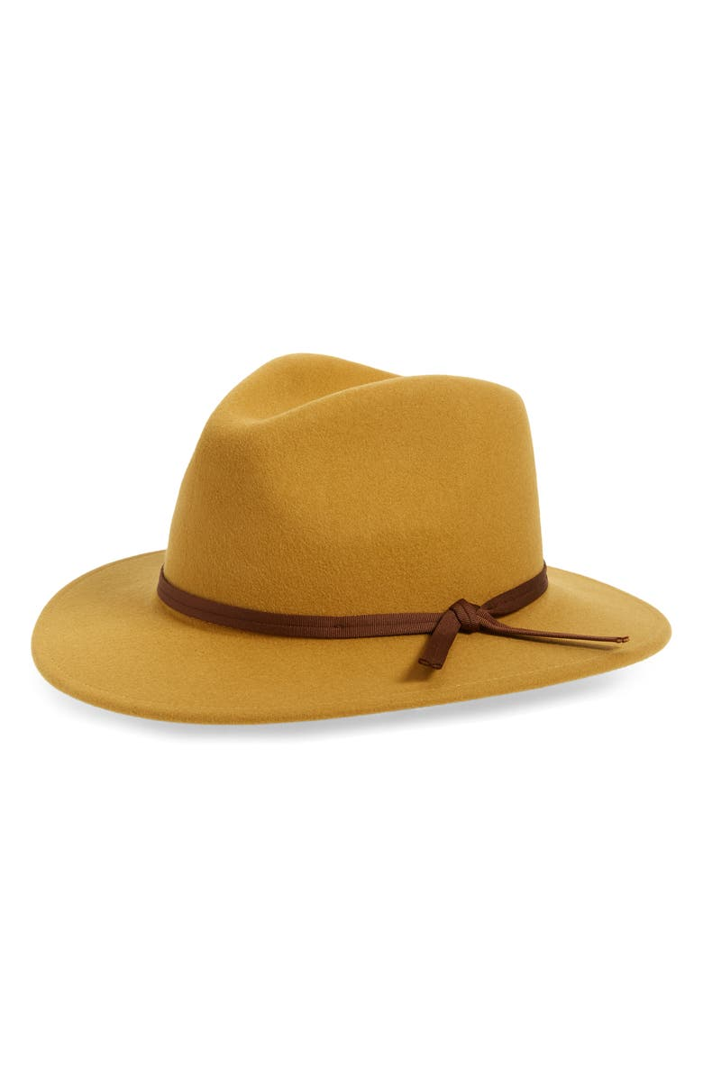 BRIXTON Coleman Felted Wool Fedora, Main, color, 250