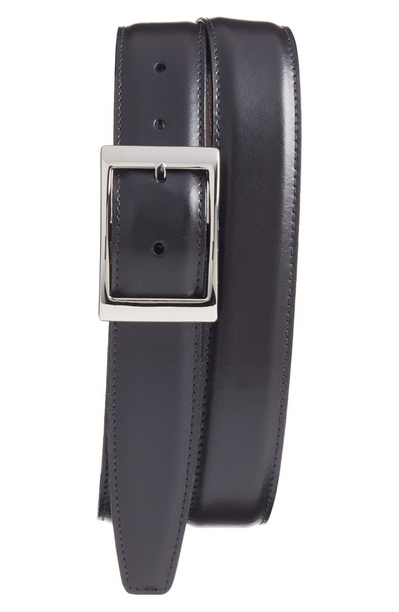 TORINO Reversible Leather Belt, Main, color, BLACK/ BROWN