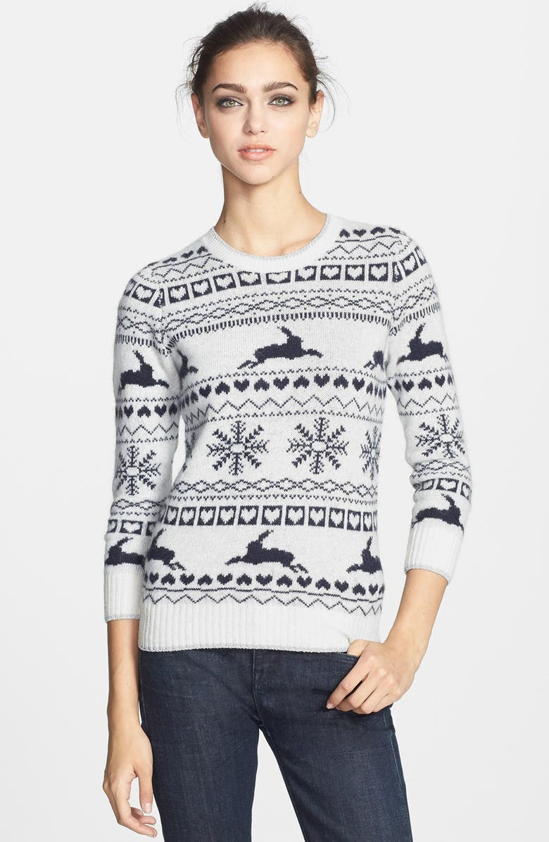 TED BAKER LONDON 'Maysi' Fair Isle Sweater, Main, color, 900