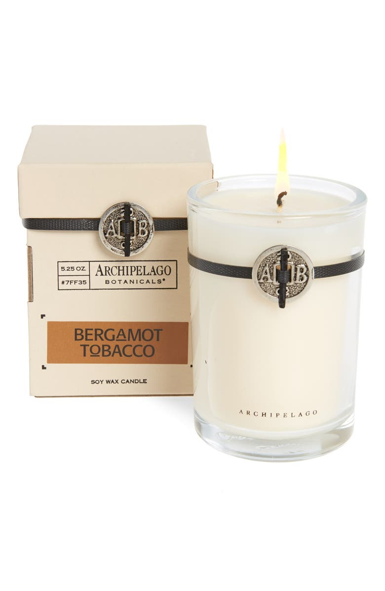 ARCHIPELAGO BOTANICALS Signature Soy Wax Candle, Main, color, TOBACCO