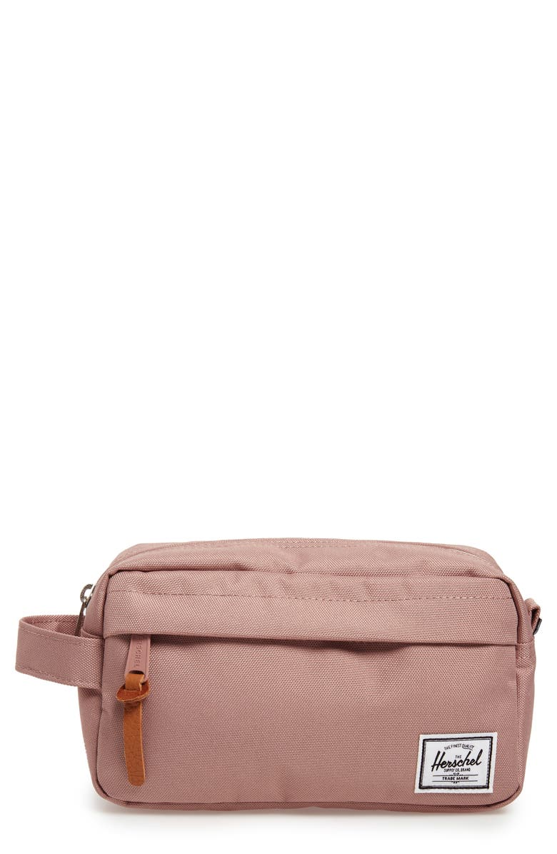 HERSCHEL SUPPLY CO. Chapter Carry-On Dopp Kit, Main, color, ASH ROSE