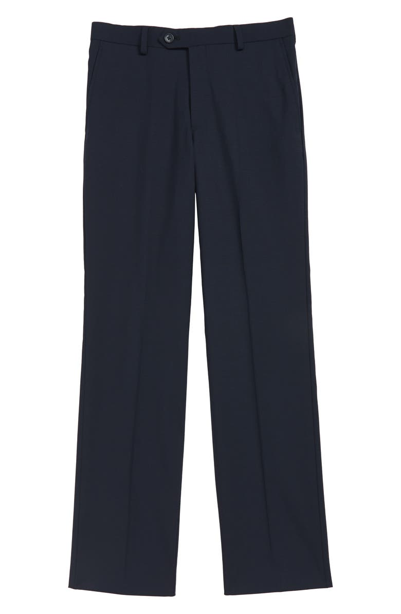 HART SCHAFFNER MARX Stretch Wool Trousers, Main, color, NAVY