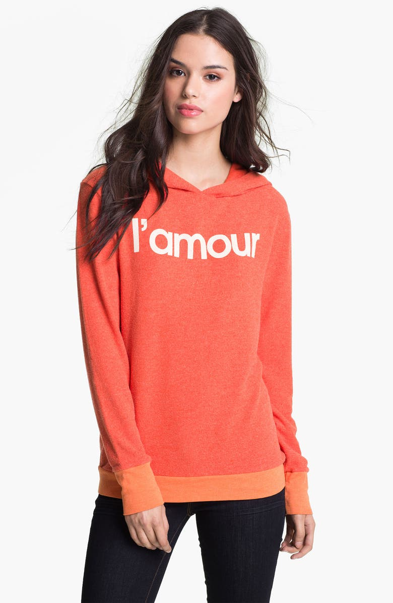 WILDFOX 'L'Amour' Graphic Hoodie, Main, color, VALLEY ROUGE