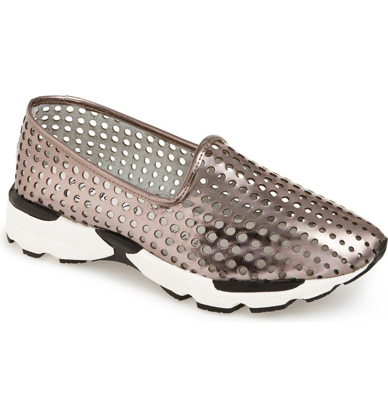 JEFFREY CAMPBELL 'Grady' Perforated Slip-On Sneaker, Main, color, 040