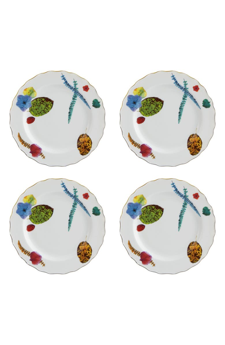 CHRISTIAN LACROIX Caribe Set of 4 Bread & Butter Plates, Main, color, 100