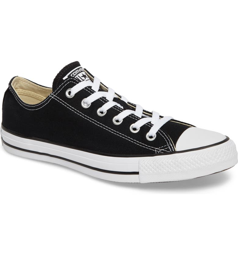 CONVERSE Chuck Taylor<sup>®</sup> All Star<sup>®</sup> Low Sneaker, Main, color, BLACK