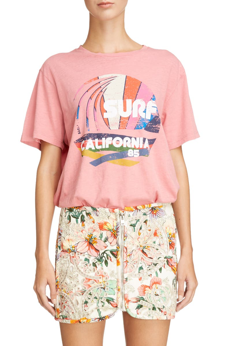 ISABEL MARANT Surf California Tee, Main, color, CANDY PINK