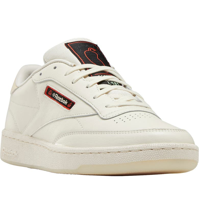REEBOK x Hot Ones Club C 85 Sneaker, Main, color, HOT ONES COLLAB / WHITE/ SAND