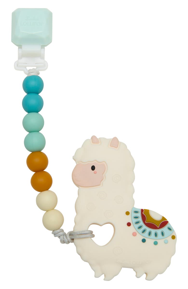 LOULOU LOLLIPOP Llama Teething Toy & Holder, Main, color, MULTI