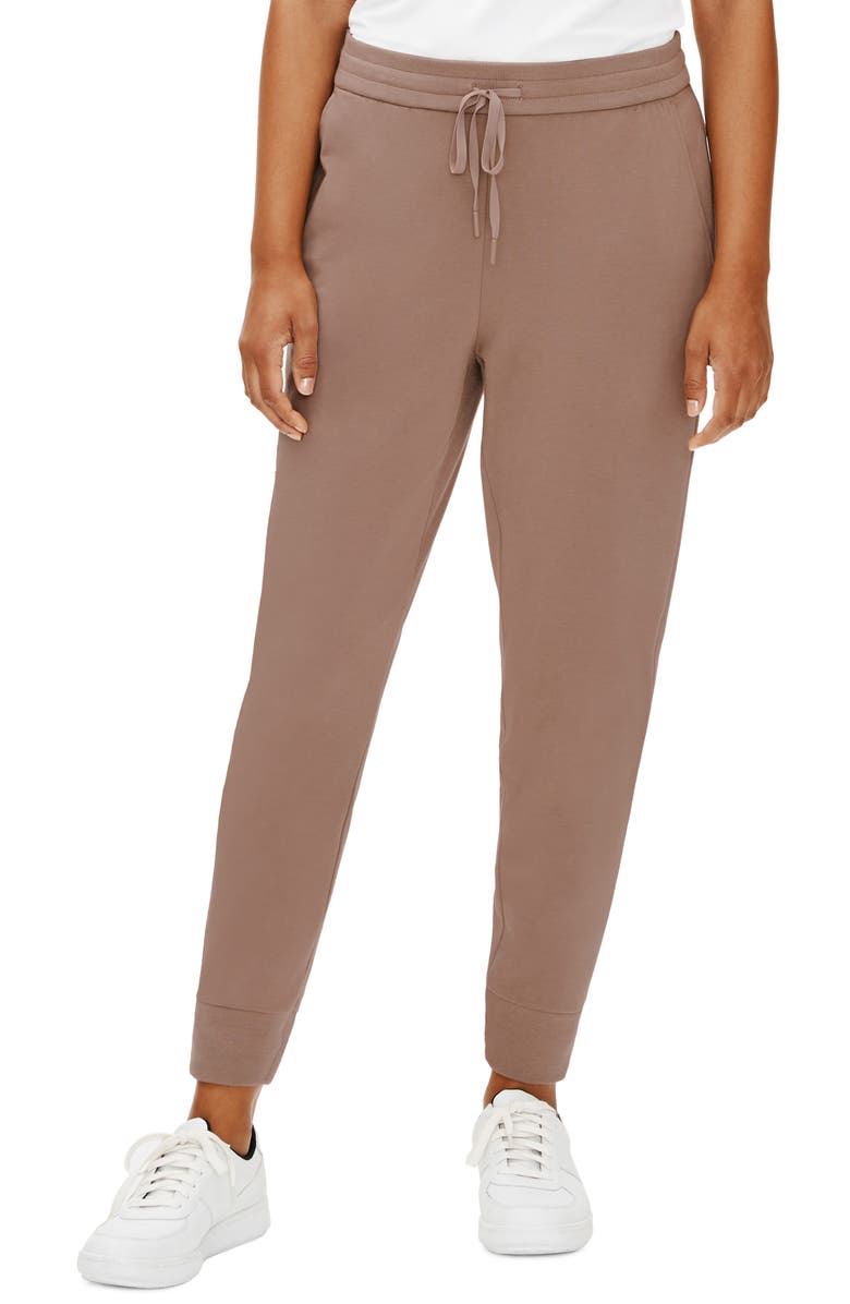 EILEEN FISHER Slouchy Ankle Joggers, Main, color, DRIFTWOOD