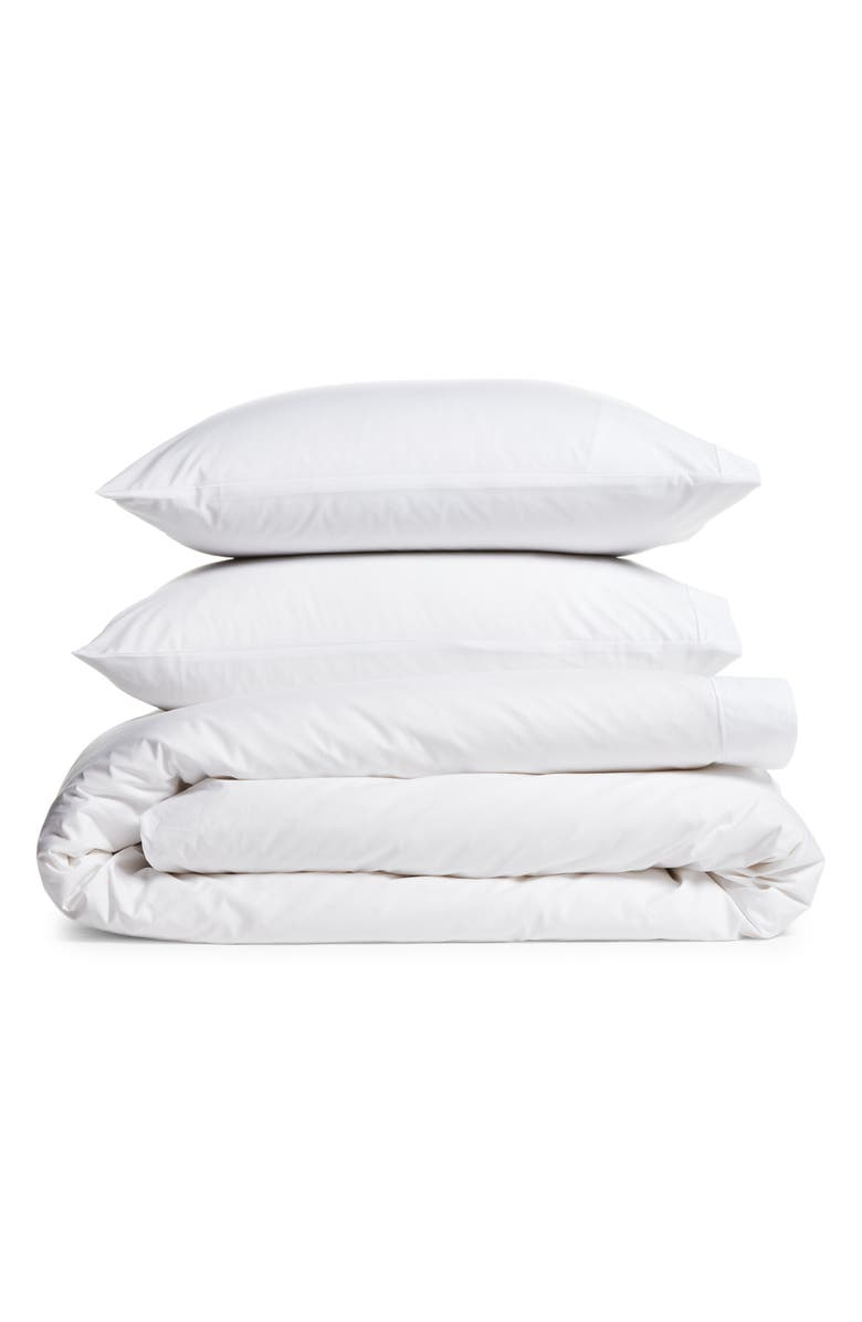THE WHITE COMPANY Luxury Savoy Duvet Cover & Shams Set, Main, color, WHITE