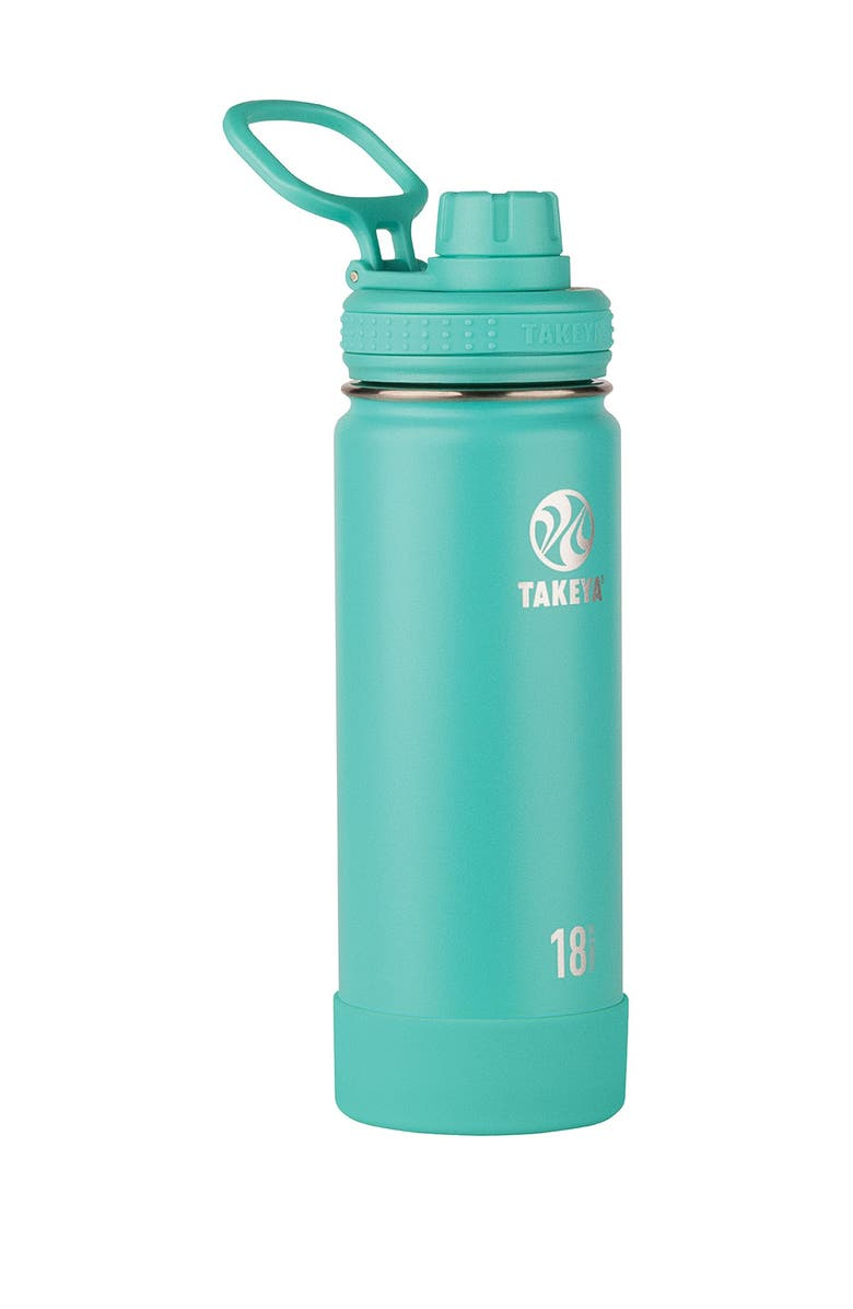 TAKEYA Teal Active Insulated 18 oz. Stainless Steel Monochromatic Bottle, Main, color, TEAL