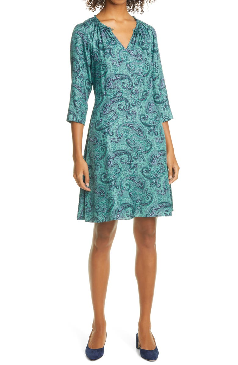Rebecca Taylor Margaux Paisley Silk Blend Shift Dress Nordstrom