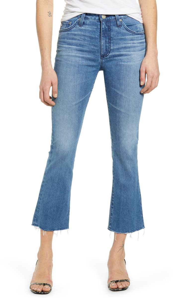 AG The Jodi Crop Flare Jeans, Main, color, 12 YEARS WAVES