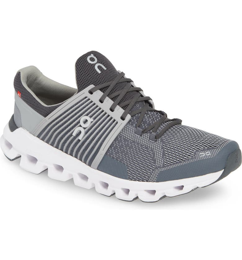 ON Cloudswift Running Shoe, Main, color, ROCK/ SLATE