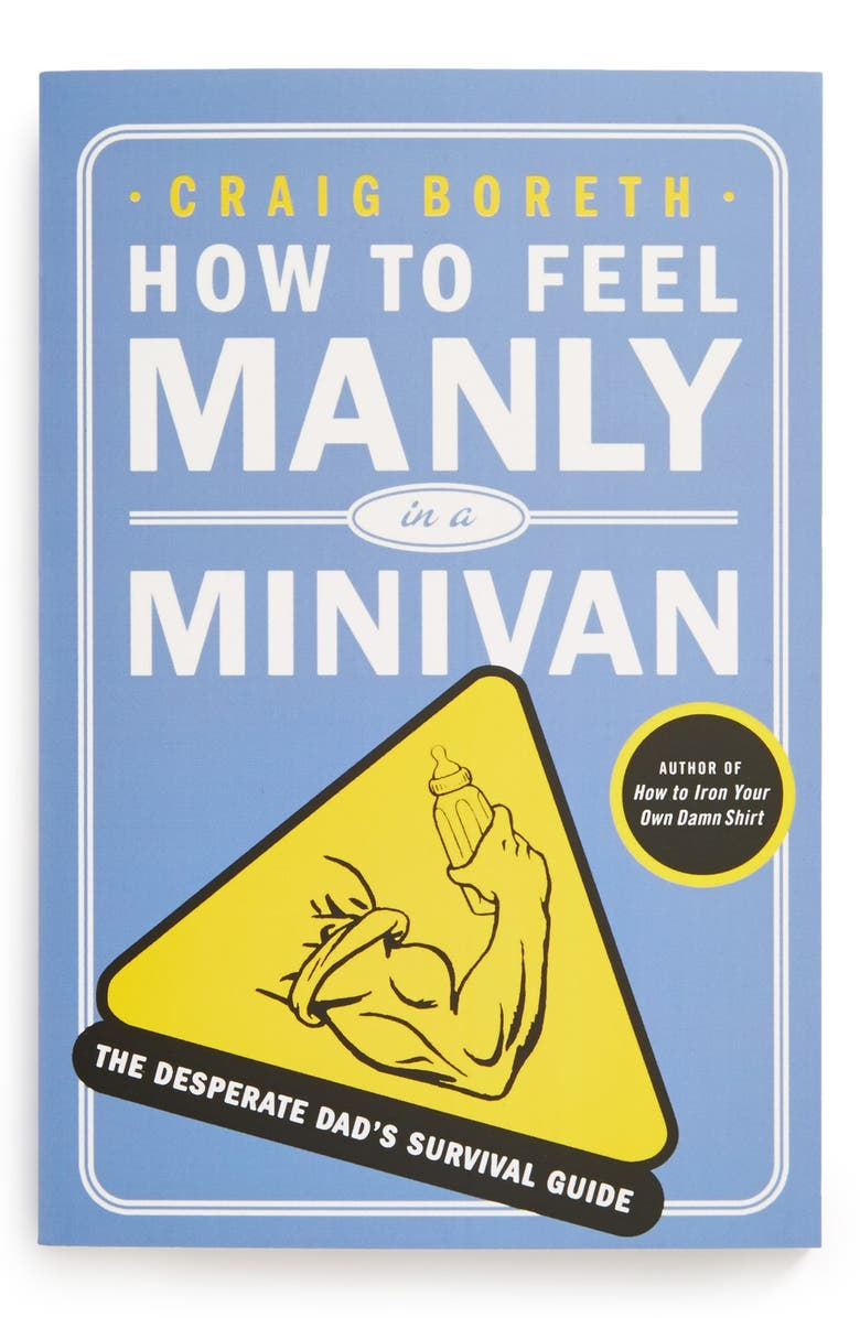 MACMILLAN 'How To Feel Manly in a Minivan' Book, Main, color, Blue