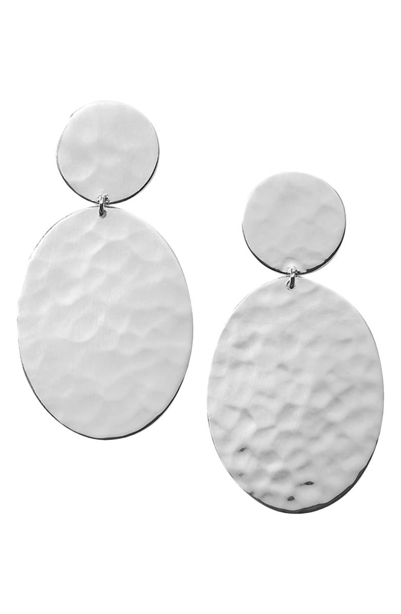 IPPOLITA Classico Crinkle Hammered Drop Earrings, Main, color, Silver