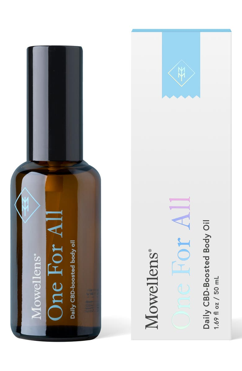 MOWELLENS One For All Daily CBD-Boosted Body Oil, Main, color, No Color
