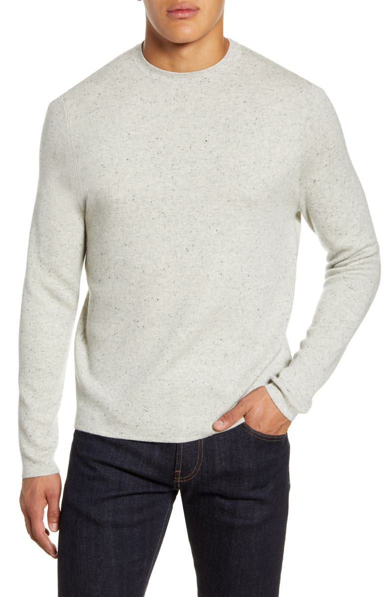 NORDSTROM SIGNATURE Crewneck Cashmere Sweater, Main, color, 100